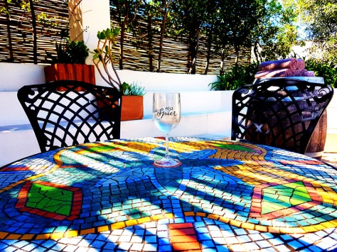 Spier mosaic table