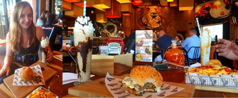 Burgers and shakes at Rocomama's, Parklands
