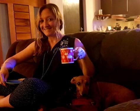 Christmas mug dog