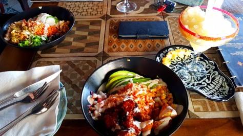 Taco bowls at El Barrio