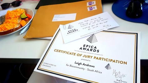 Epica awards jury participation