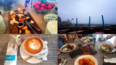 Breakfast at Waves restaurant at Blaauwberg Beach Hotel