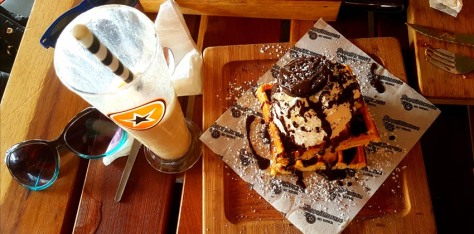 My half-portion Cookies n Scream waffle was just what the doctor ordered. :)