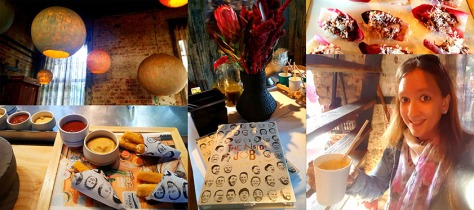 I popped in at the Test Kitchen in the Old Biscuit Mill after work last Monday, for the launch of Sandalene Dale-Roberts' latest cookbook, The Inside Job. See some of the decor and food from the book that we sampled.