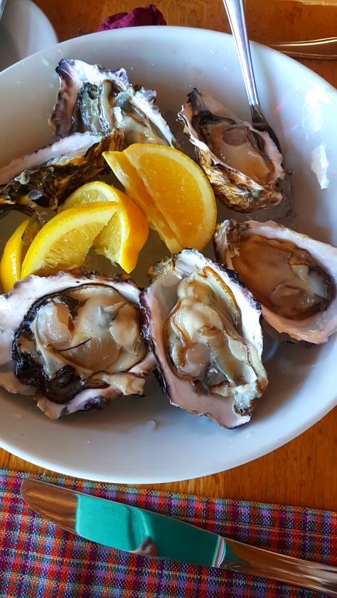Oysters! Husband's Mum ordered a portion for the table.