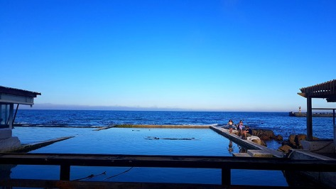 The tide pool at Brass Bell was flat and so inviting, if you ignored the nip in the air...