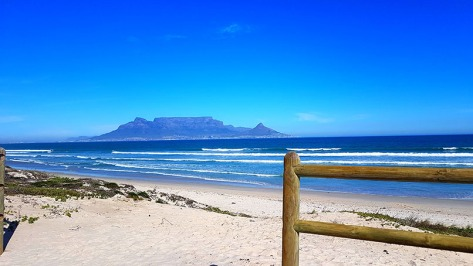 Beautiful view across to Table Mountain from Blouberg beach that afternoon.