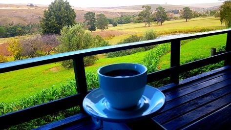 For me, it doesn't get much better than a freshy brewed coffee with a view like this...