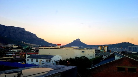 I had a super-early start at the office last Thursday, and remembered to pause to catch the sunrise out the window.