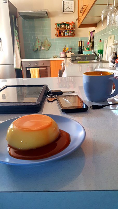 Homemade creme caramel for dessert at Mum's on Sunday. Yum!