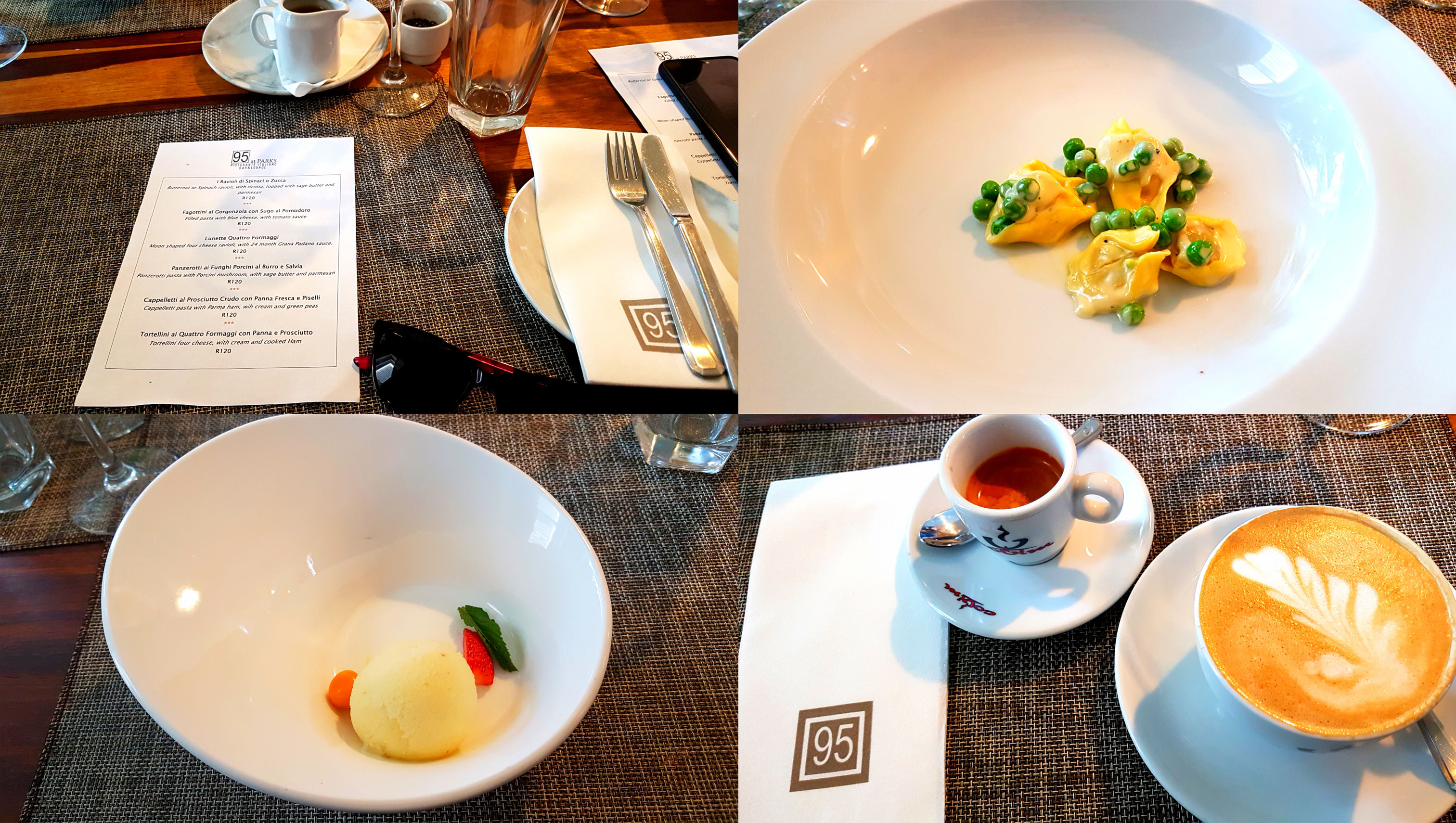 See the pasta ripiena menu, on offer until end-July, as well as the pea-and-ham cappelletti, pineapple sorbet and our espresso and cappuccino to end the meal. Click here for my official review on Biz, as well as a download of Chef Nava's recipes from the master class!