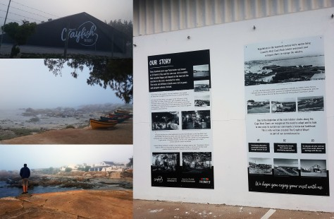 We noticed signs for the Crayfish Wharf for the first time on this visit to Paternoster, so drove down to explore. It's a lovely spot when the mist lifts!