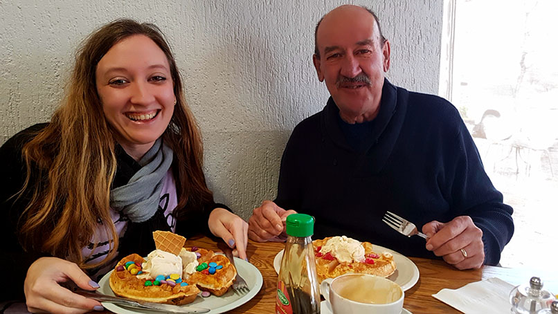 Next stop, waffles! We needed something sweet to end the meal so went to Tasha's Waffles in Constantia for waffles and coffee. Just the way to spend a Tuesday afternoon!