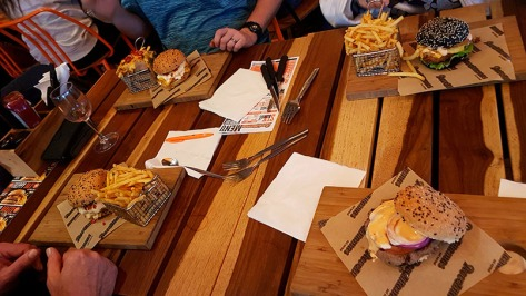 All the burgers and fries. Yum!