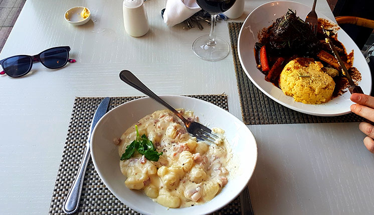 For mains, we went for the gnocchi carbonara and lamb shank respectively. Click here for my full, wordy review. on Bizcommunity
