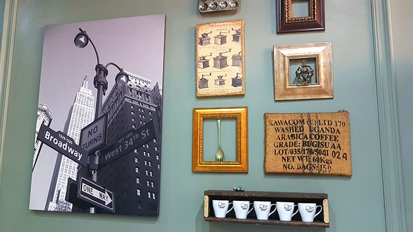 Travel-inspired decor at The Daily in Seaside Village.
