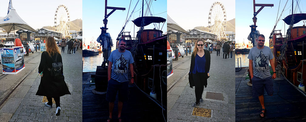 As seen during our post-meal walkies around the Waterfront. Note Husband's 'pirate pose' as we stood near the pirate ship.