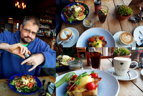 Husband would be working for most of Sunday so we got up early to sort some weekend admin - and to have breakfast, of course. See our table at The Hart Breadhouse and Bakery in Melkbos. I had the single bacon benedict and a cappuccino, Husband opted for a flat white, Coke Zero and the breakfast salad filled with salmon. Delicious.
