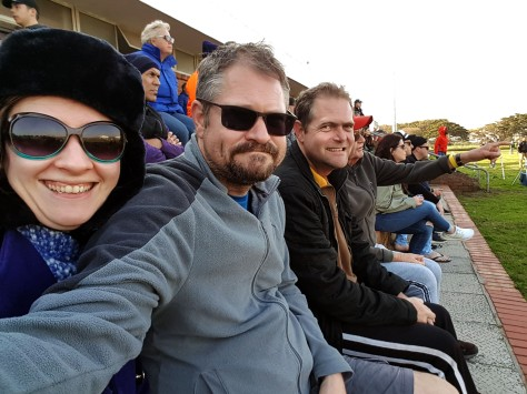 I was feeling a little better later that afternoon so bundled up tight to accompany Husband, Spec and their dad to the local Unimil rugby match.
