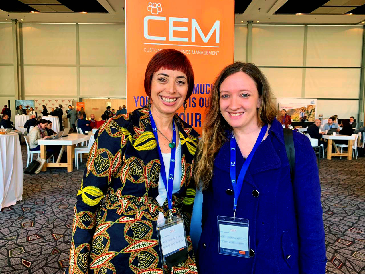 Always big smiles when I run into Chantel Botha of BrandLove at the CEM Africa Summit!