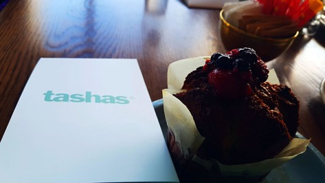 After stopping in at the office on Wednesday morning, I dashed to Tasha's at the V&A Waterfront, where I was meeting a media group for our morning excursion. See my steaming-hot blueberry muffin (they're not on the menu, just ask!)