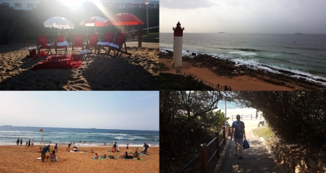We strolled along the Umhlanga Promenade to take in that golden stretch of sand.