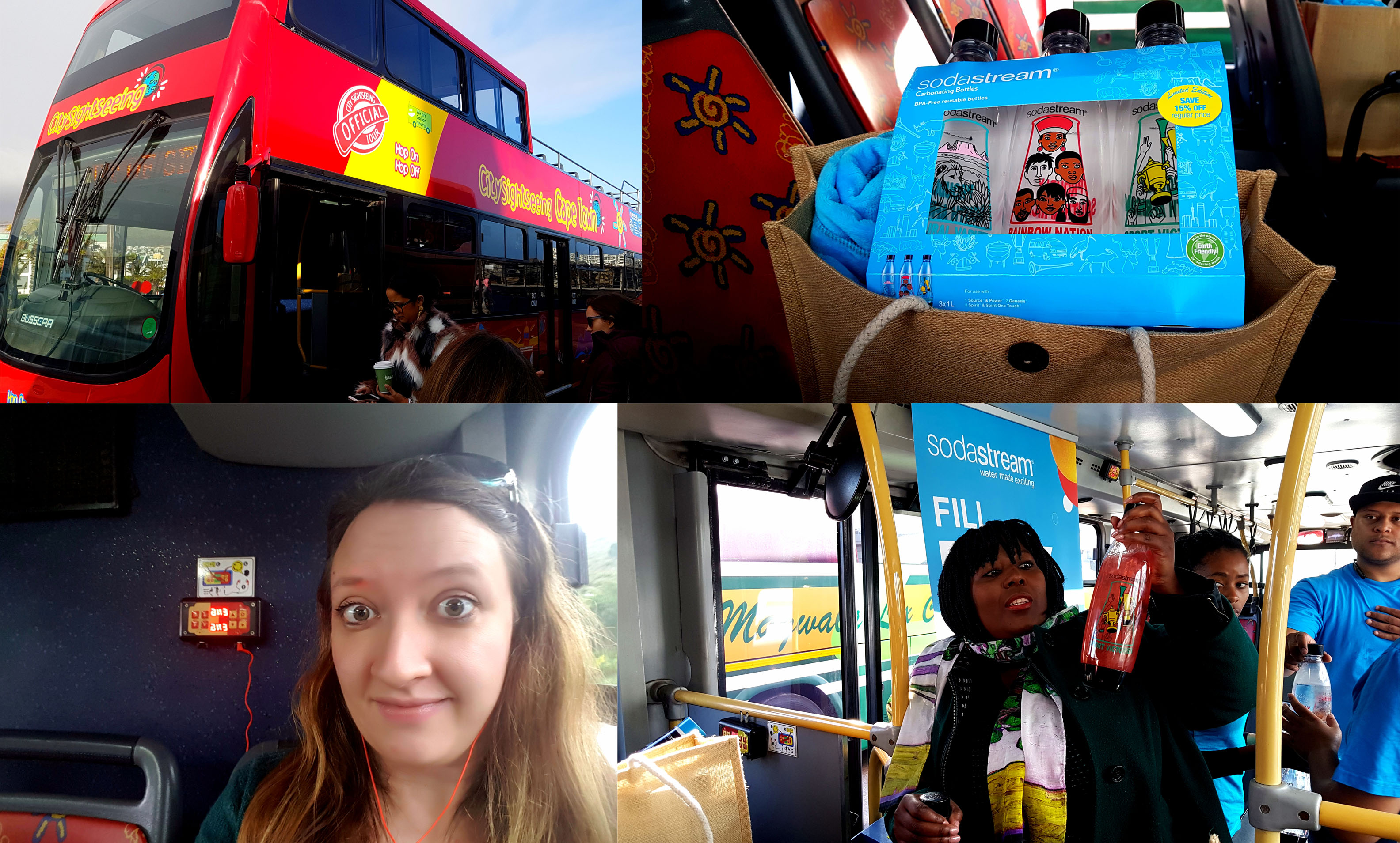 City Sightseeing bus tour, anyone? This was another media event, for the launch of SodaStream's new sustaianle bottles - we also sampled their non-alcoholic pina colada and pink mojito flavours. More on Bizcommunity soon!
