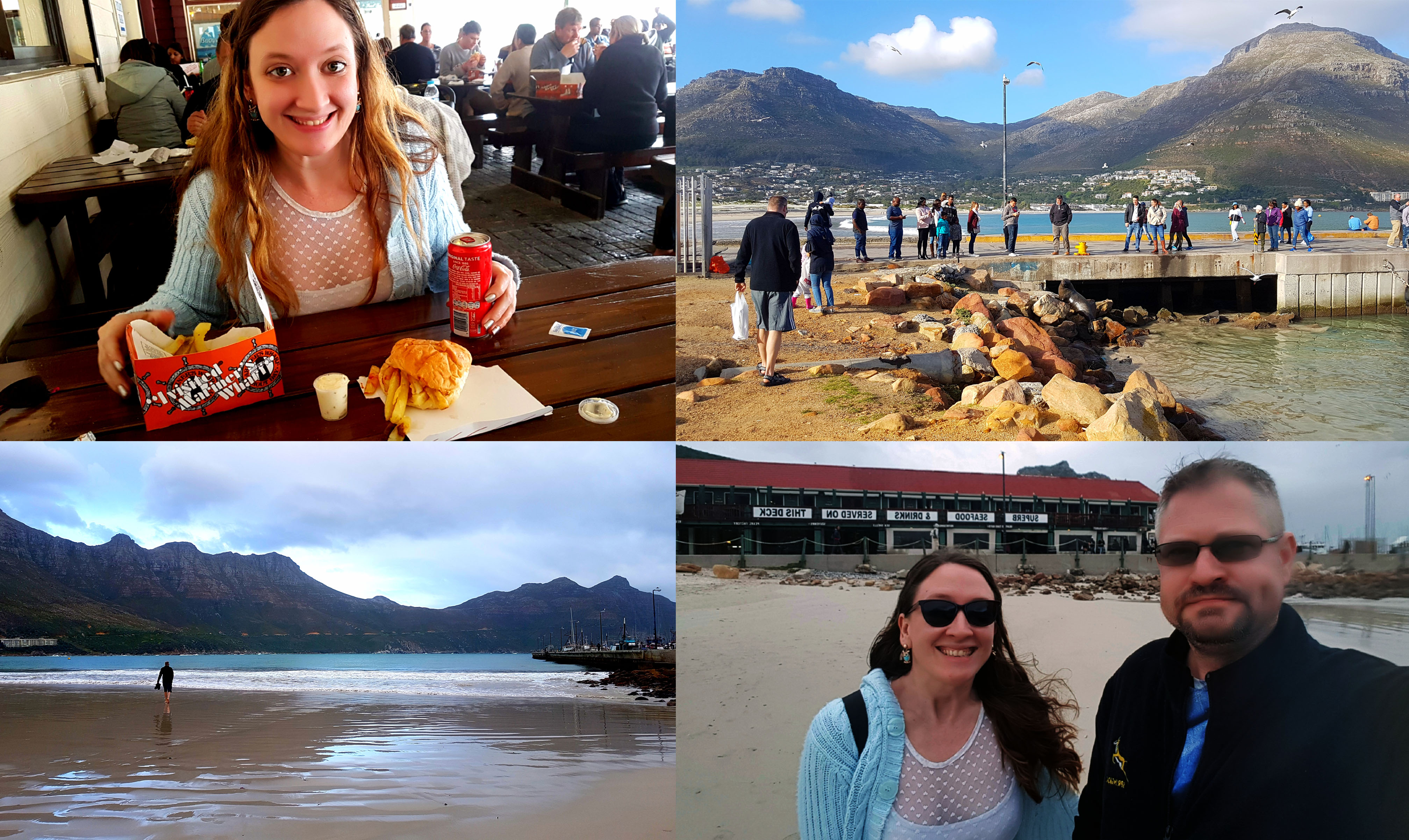 Next stop, Hout Bay! The weather was a tad chilly but just right for a road trip. I thoroughly enjoyed my slap chips with tartare sauce from Mariner's Wharf and we walked around looking at the seals and gulls.