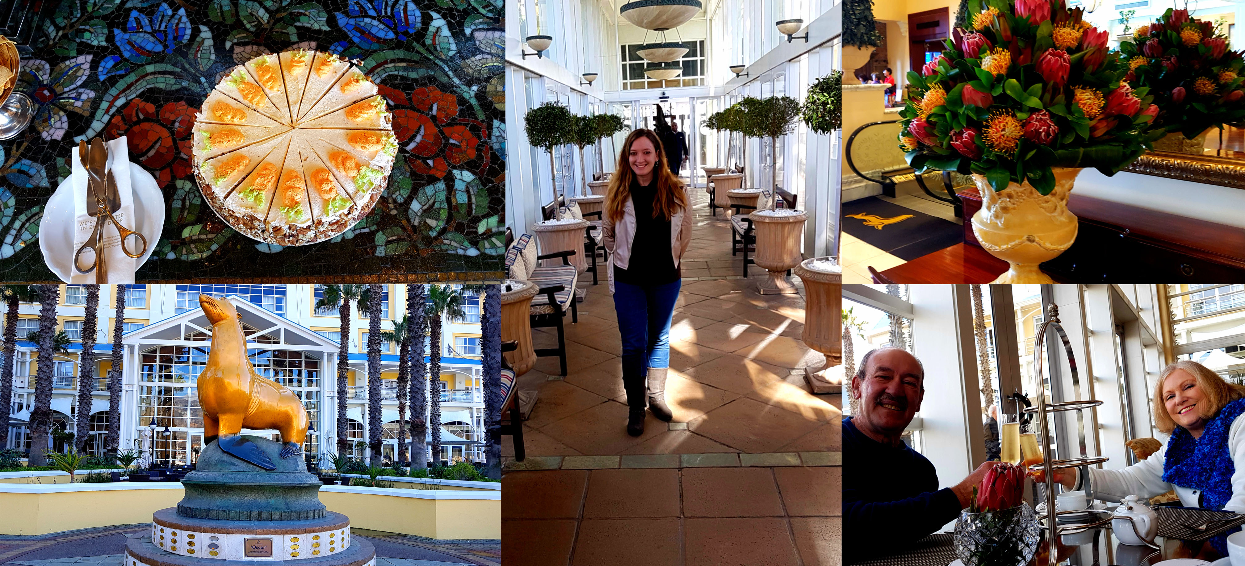 We were invited to review the new winter high tea menu at the Table Bay Hotel, so ventured off after work was done for the day on Thursday. See lots of happy faces and lovely sights.
