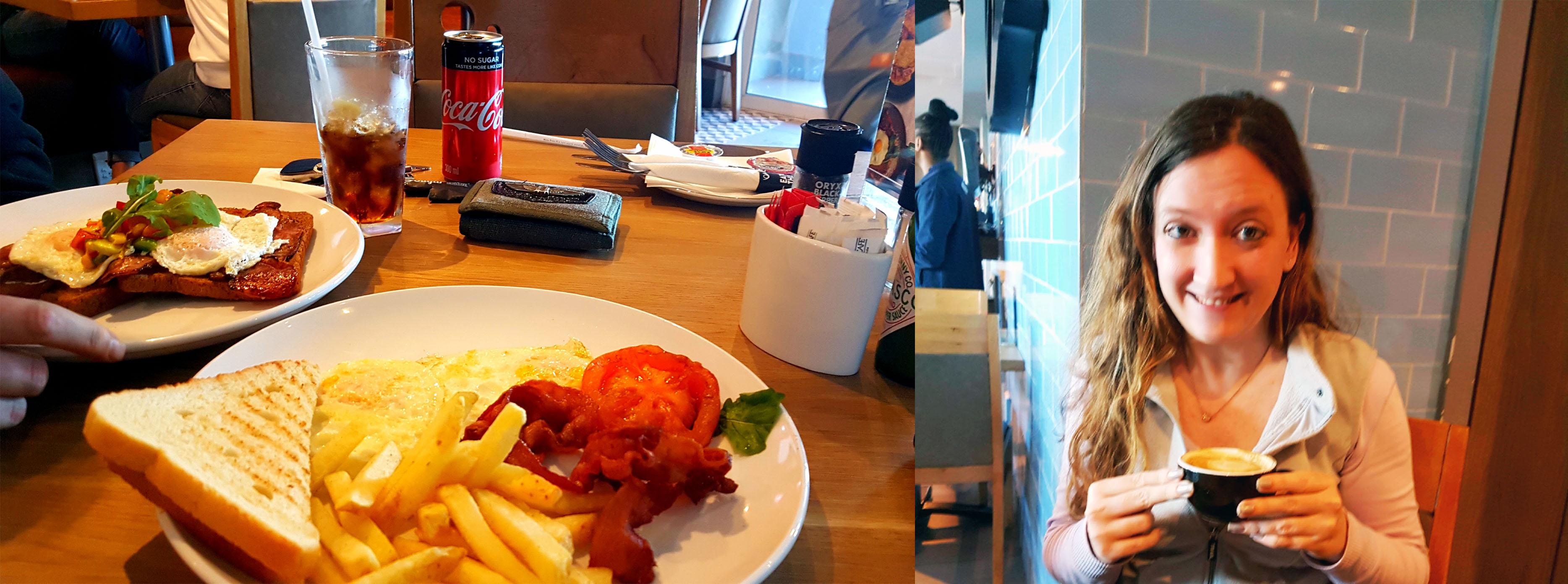 We breakfasted at News Cafe, Marine Circle on Sunday morning.