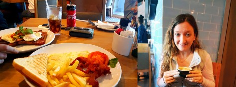 We breakfasted at News Cafe, Marine Circle on Sunday morning.