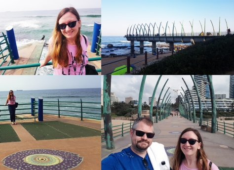 Once we'd checked out of the Oyster Box Hotel (sob), we took another walk along the pier and main promenade in Umhlanga.